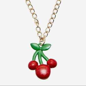 Disney mickey mouse cherry necklace